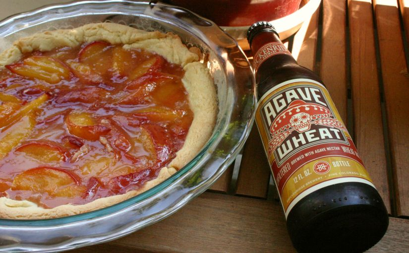 Agave Wheat Peach Tart