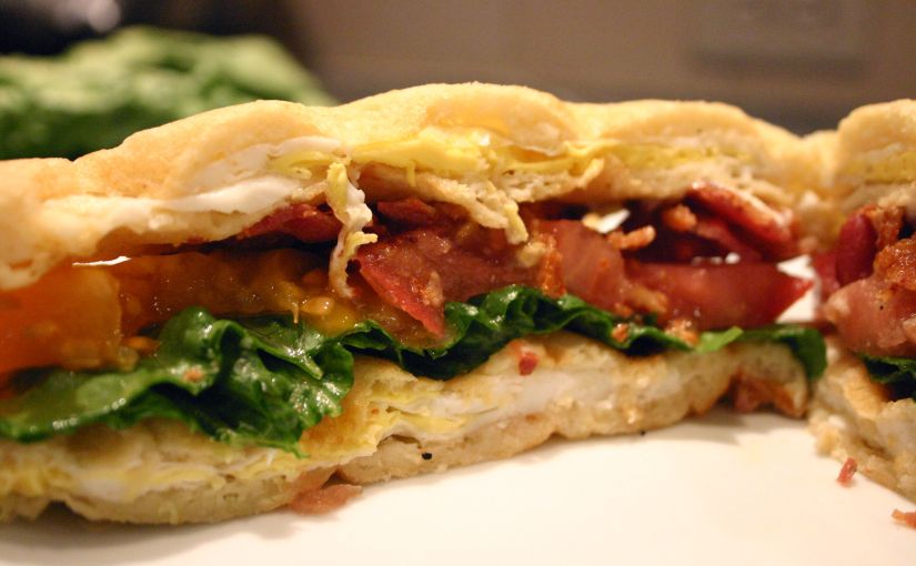 BLT-double-E Waffle Sandwich