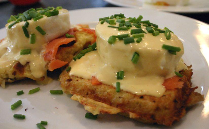 Smoked Salmon – Latke Waffle –Benedict