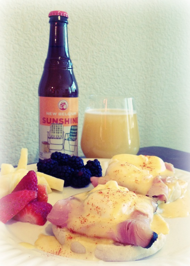 Eggs Benedict and Beermosa