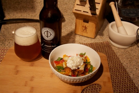 Heirloom Tomato Panzanella and J. Marie Saison