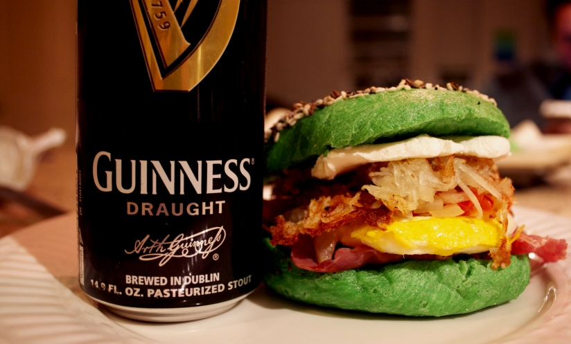 St. Patty's Day Bagel Sandwich