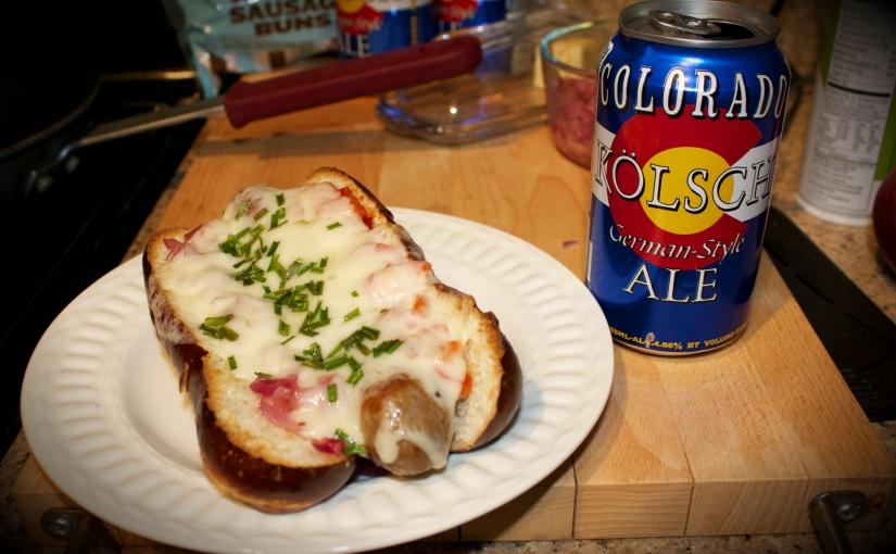 Colorado Meets Germany – Pretzel Bun BeerBrat