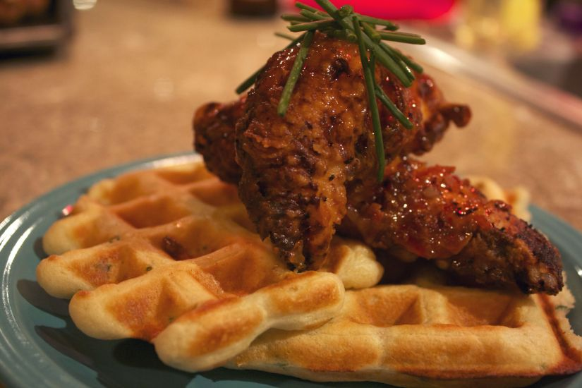 Sweet Chili Chicken and Waffles