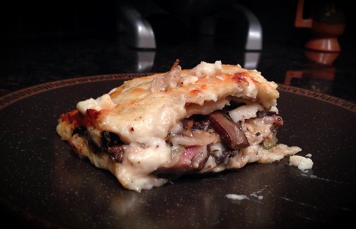 Guest Post: Roasted Portobello and Prosciutto Lasagna (GlutenFree)