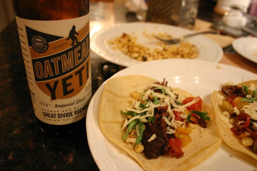 Oatmeal Yeti Braised Short Rib Tacos