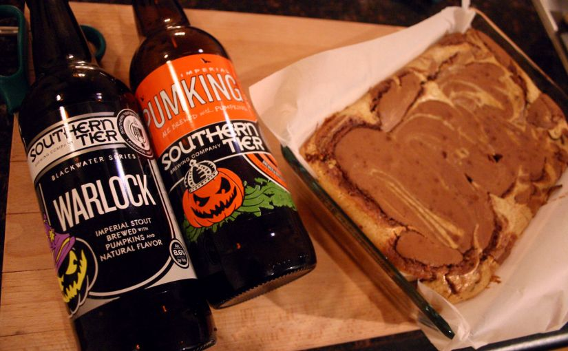 Cooking with Beer | Southern Tier Pumpkin Cheesecake Brownies