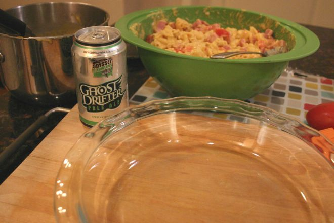 Drink and Spoon Beer Mac and Cheese Pie