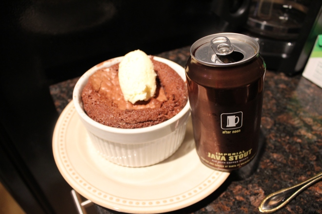 Jax Molten Chocolate Cake Drink and Spoon